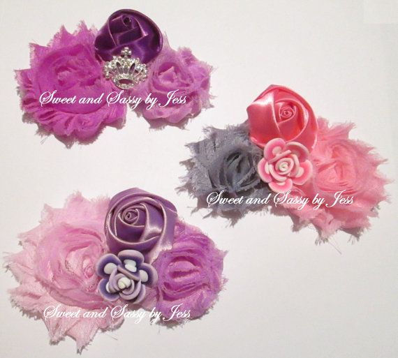 Flower girl bows Flower bows Bows Girls by SweetAndSassyByJess, $4.50