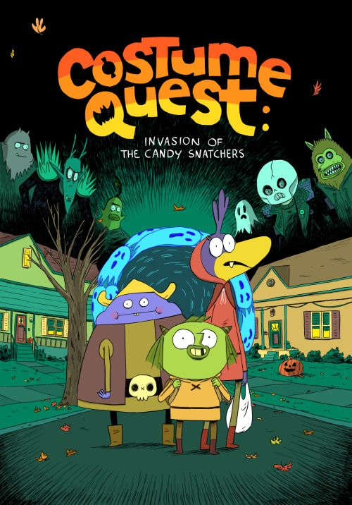 My book is finally announced! Costume Quest: Invasion of the Candy Snatchers is an original story set in the Costume Quest universe which I'm creating with Double Fine and Oni Press.    Here's an interview I did with Comics Alliance about the book!