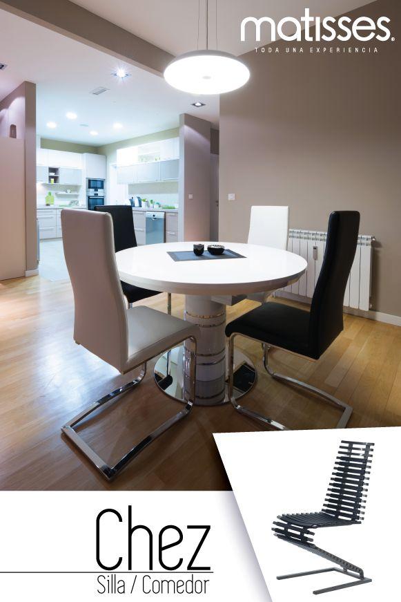 Las sillas de comedor pueden tener diseños especiales que aporten detalles estéticamente elegantes.