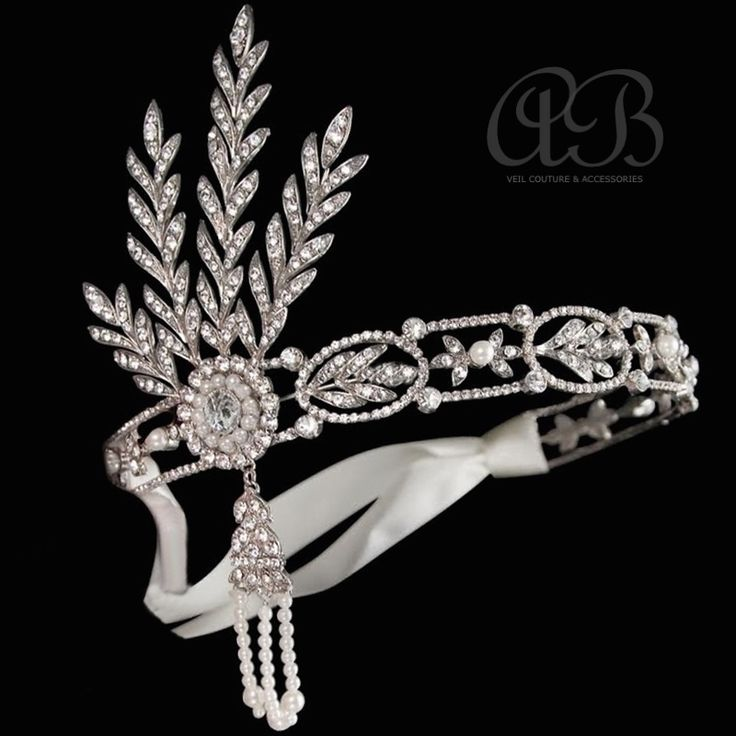 'Gatsby' Exquisite Headress Ready to Wear at Arynvere Bride $299 enquire at www.arynverebride.com