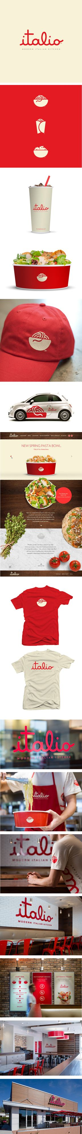 Italio Modern Kitchen Identity and Collateral by Push