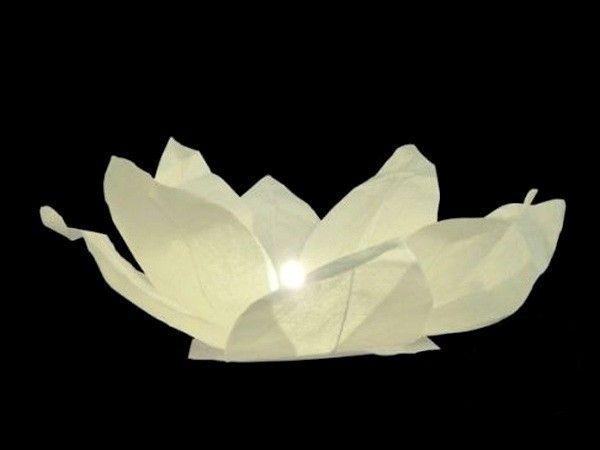 Lanterne flottante Lotus Blanche