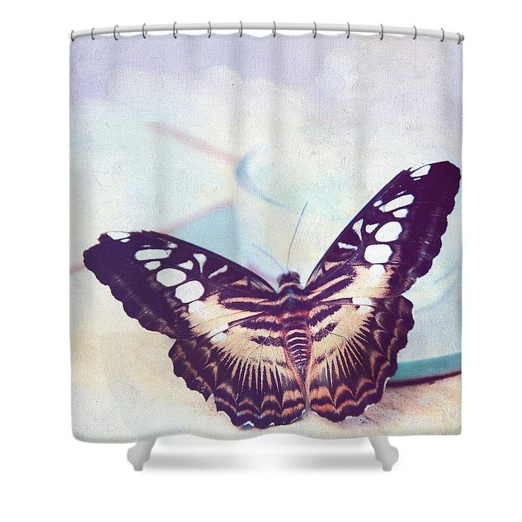 Jenny Rainbow Fine Art Photography Shower Curtain featuring the photograph Tender Morning With Butterfly by Jenny Rainbow