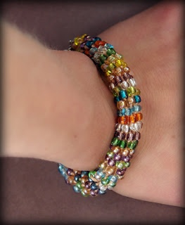 Crochet Beaded Bracelet With Instructions