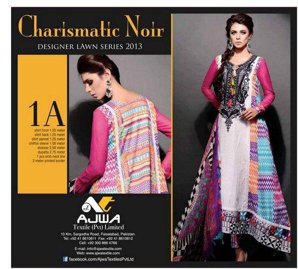 Ajwa Textile Lawn Dresses 2014 For Women
