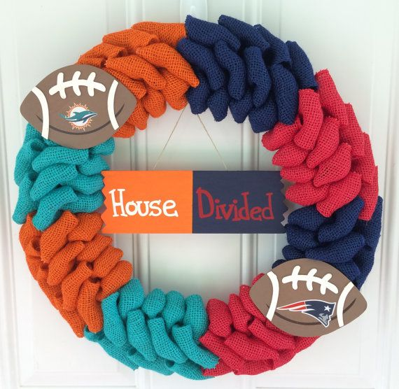 House Divided wreath House Divided Burlap by TheCraftinBear