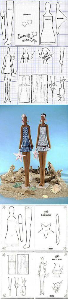 Кукла Тильда. Девушка-садовница. Пляжницы. | Подружки