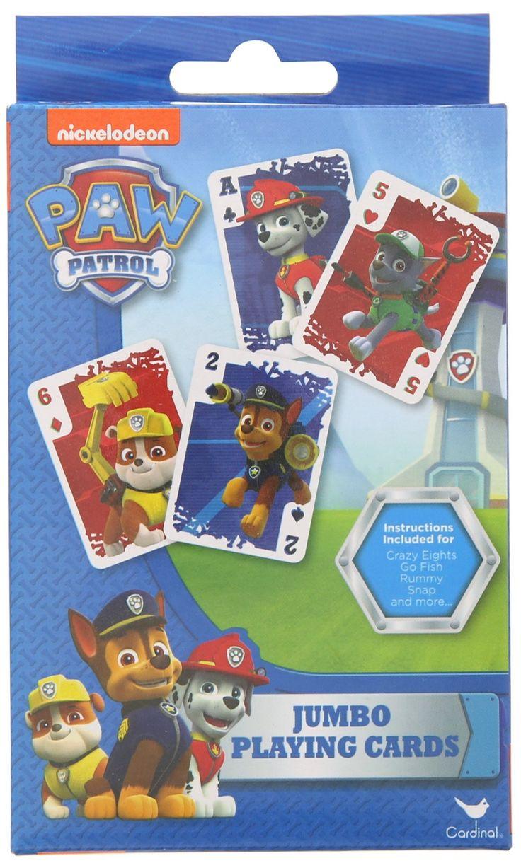 Amazon Com Paw Patrol Jumbo Playing Cards Toys Amp Games