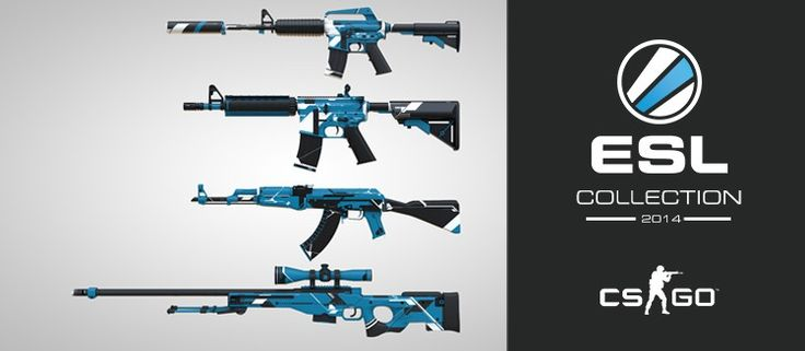ESL Collection 2014 | AK-47 | AWP | M4A1 | M4A1-S|  Source: http://www.eslgaming.com/news/esls-very-own-csgo-skin-collection-now-available-workshop