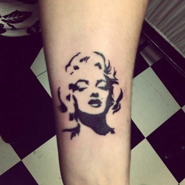 Marilyn Monroe Wrist Tattoo