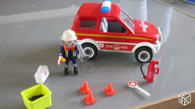 Voiture pompier playmobil
