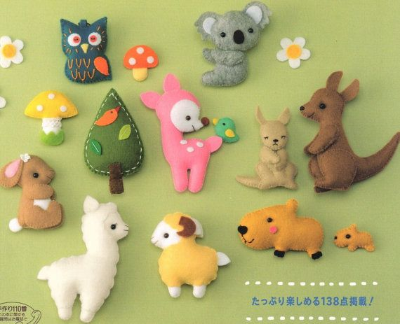 Japanese Felt Mascot Toys Accessories Pattern Book nstant Download PDF E-Book
