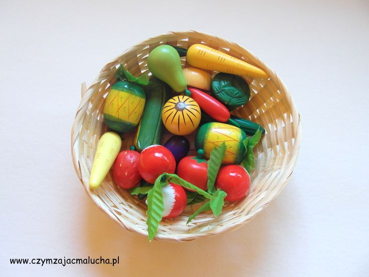 wooden fruit and vegetables