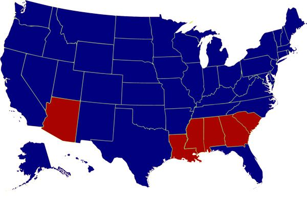 1964 Electoral College Map for Presidential Election of LBJ