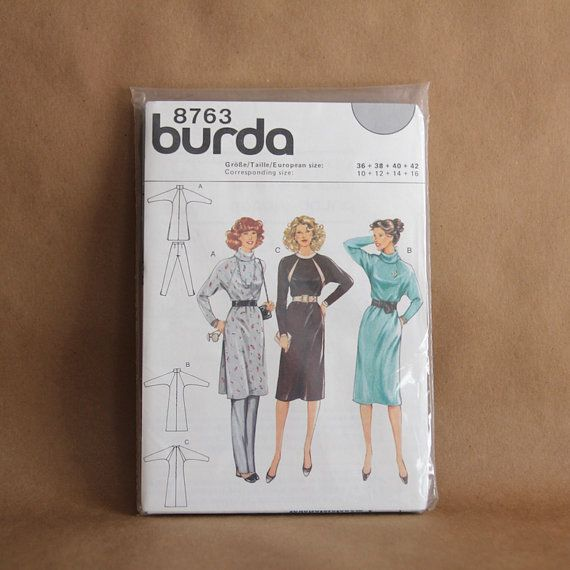 vintage BURDA Pattern 8763 Batwing jersey knit by ConstableDewey