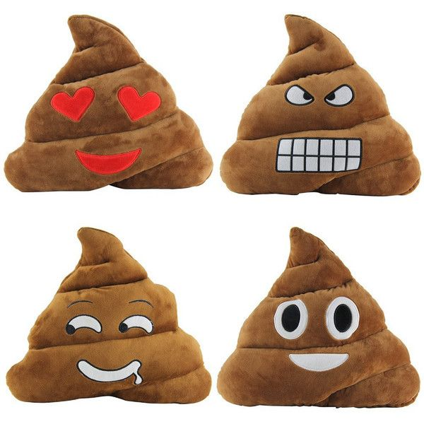 Cool Poop emoji pillow heart smiley emoji decorative pillow gifts... ($25) ❤ liked on Polyvore featuring home, home decor, throw pillows, heart throw pillow, heart home decor e plush throw pillows