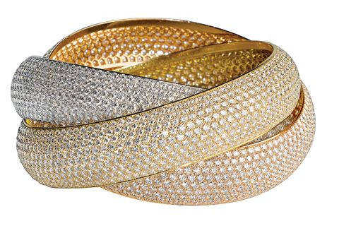 Bracelets to match my dream ring!! Cartier Trinity Bracelet Paved w/ Diamonds