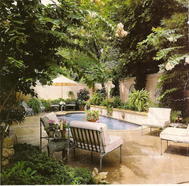 Small and lush pool area porches amp patios pinterest small pools