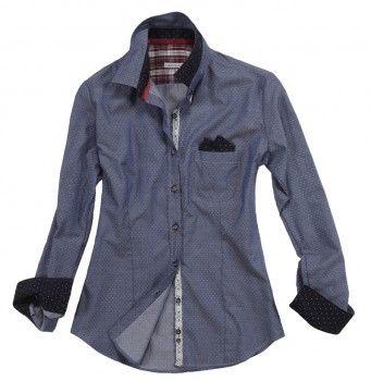 Camicia dal colore grigio scuro perlato e taschino a lato.  Seguici anche su                           www.redisrappresentanze.it