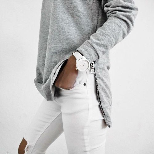 Grey and white are the perfect color combo.