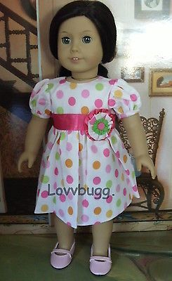 "Polka Dot Dress for 18"" American Girl Doll Lovvbugg Top Clothes Selection Online 