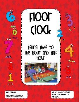 BIG COLORFUL FLOOR CLOCK - TeachersPayTeachers.com
