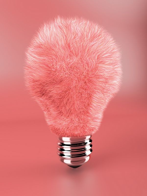 Pink fluffy lamp bulb by ~Geckly on deviantART