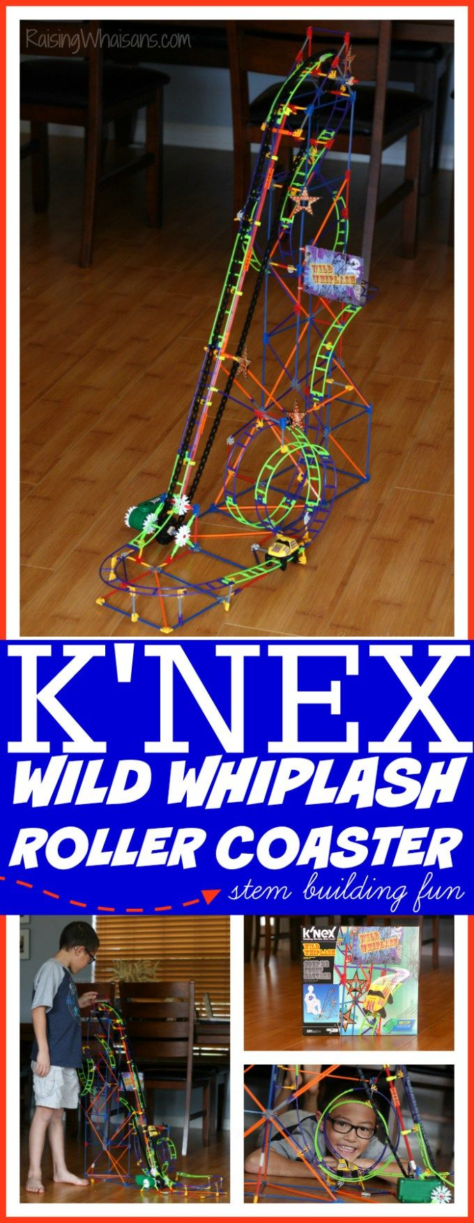 STEM Building Fun with @KNEXBrands #WildWhiplash Roller Coaster Toy Set   Perfect holiday gift idea for kids 9 years and up + VIDEO review #ad Raising Whasians