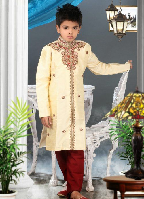 Enigmatic Cream Kids Boys Wear