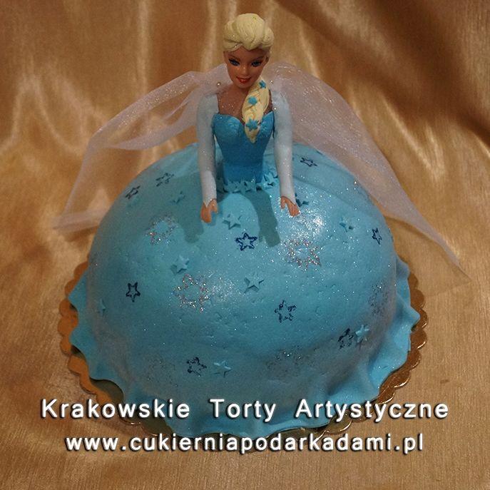 125. Tort księżniczka Elza. Elsa cake.