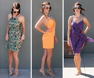Turn Any Yard of Fabric into a Chic Beach Wrap