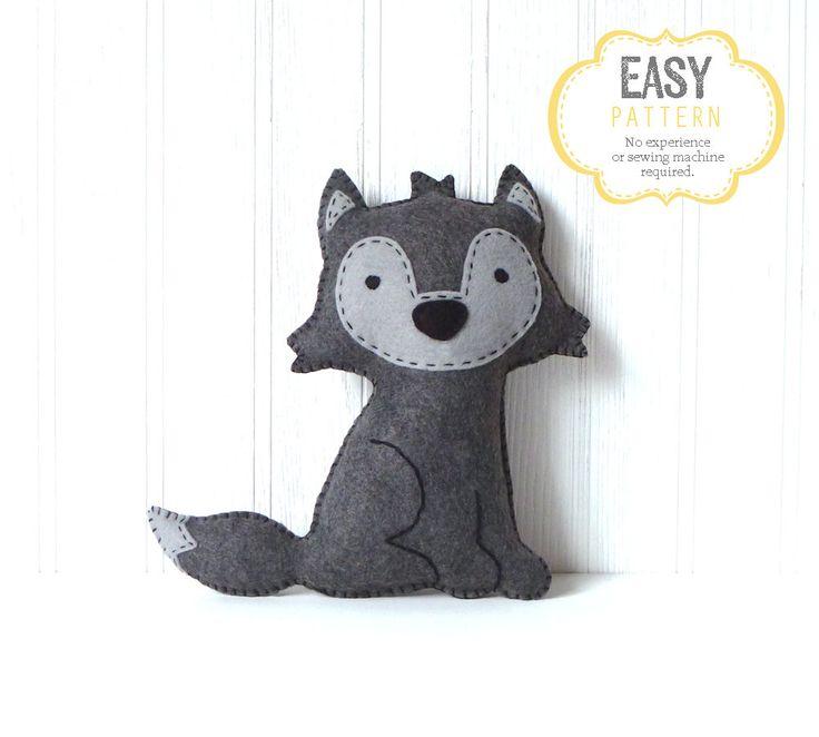 Woodland Stuffed Animal Patterns Felt Fox Owl by LittleHibouShoppe