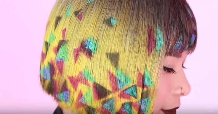 Graffiti-Hair: Der neue Trend ist großartig! #News #Beauty