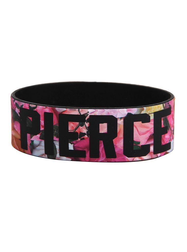 Best Bracelet 2017/ 2018 : Pierce The Veil Floral Logo Rubber Bracelet