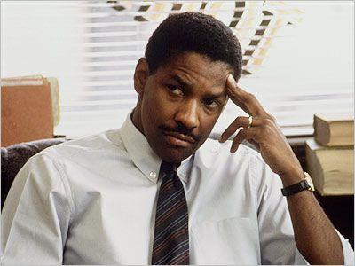 Denzel Washington as Joe Miller in Philadelphia