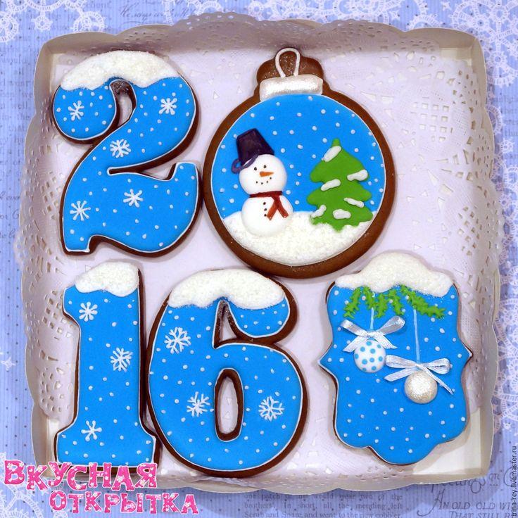 Купить Новогодние наборы пряников - пряник, сувенир, Новый Год, пряничный сувенир, подарок, сладость