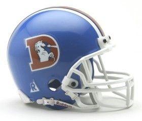 Denver Broncos 1975-96 Throwback Replica Mini Helmet