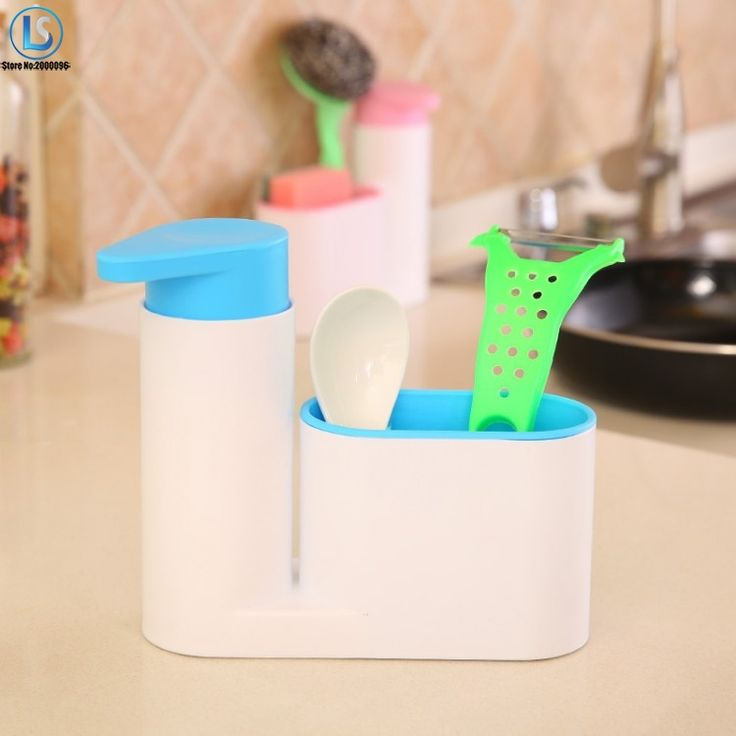 Washing Sponge Kitchen Storage Shelf Multifunctional Sink Detergent Soap Dispenser Hand Sanitizer Bottle Storage Rack A637