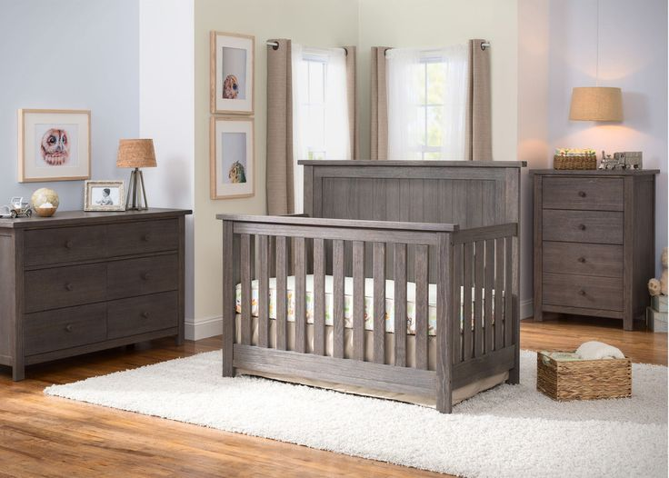Serta Rustic Grey (084) Northbrook 4-in-1 Crib, Room View a0a