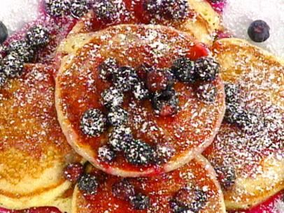 images of foodnetwork breakfast pancakes recipes   ... Pancakes with Warm Blueberry Syrup Recipe : Emeril Lagasse : Food
