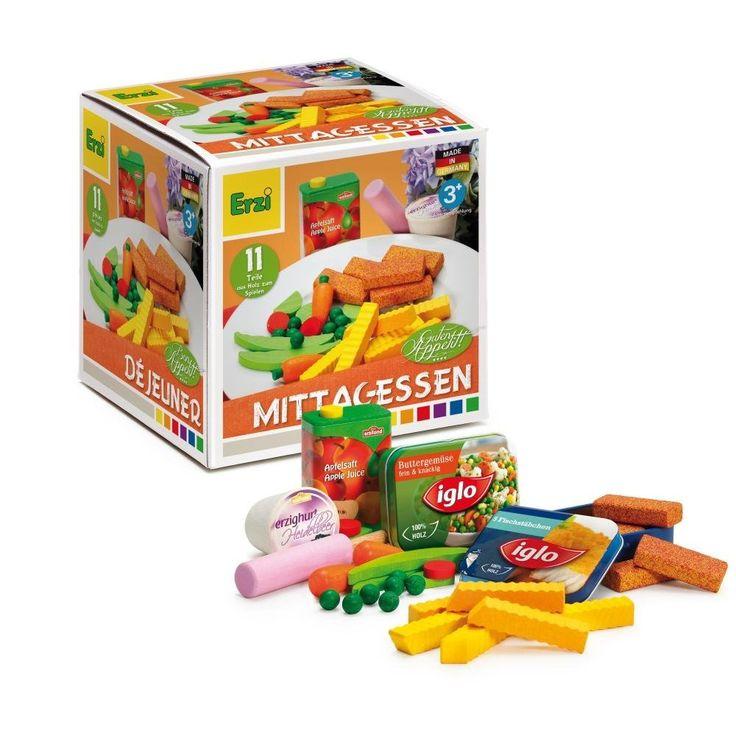 Erzi Sortierung Mittagessen, Kaufladenzubehörset, Spielset, aus Holz, Maße 12 x 12 x 6 cm, bunt: Amazon.de: Spielzeug