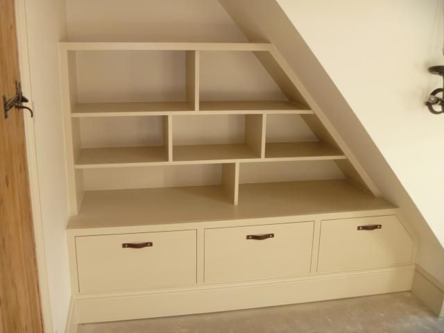 Image result for understair shelving