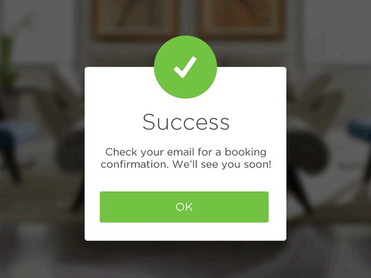 Success Popup for Handybook New App