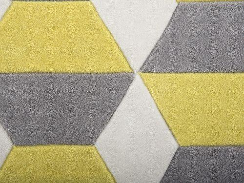 Tappeto rettangolare in tessuto grigio/giallo a pelo corto - 160x230cm - ANTALYA_176522