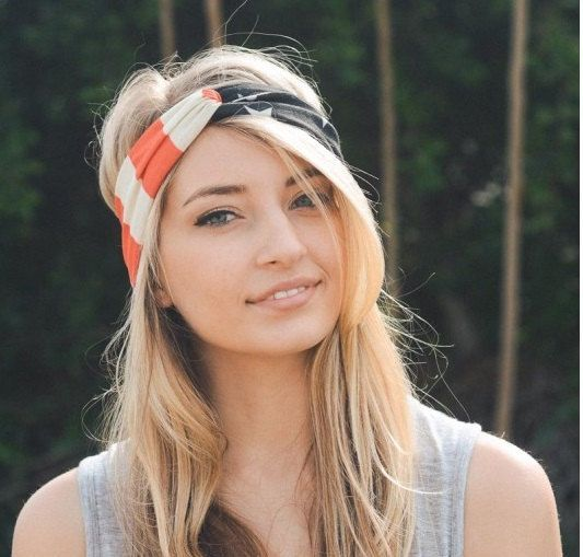 american flag headband july 4th headband workout headband