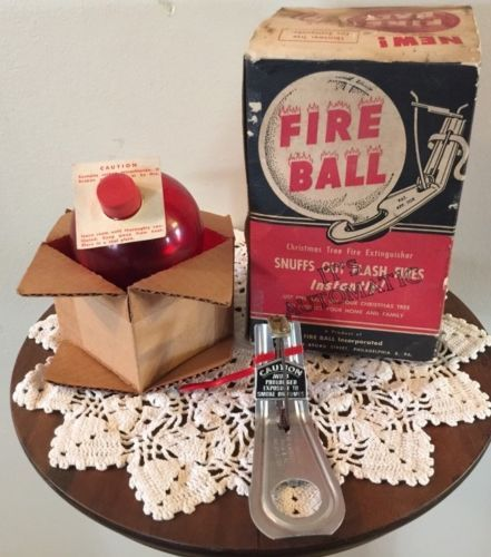 Vintage-FIRE-BALL-Christmas-Tree-Ornament-Fire-Extinguisher-in-Original-Box  | Christmas Past.... | Pinterest | Christmas, Christmas tree ornaments and  ... - Vintage-FIRE-BALL-Christmas-Tree-Ornament-Fire-Extinguisher-in