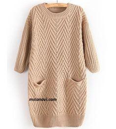 Платье-туника с выразительным узором - СХЕМА http://mslanavi.com/2017/03/plate-tunika-s-vyrazitelnym-uzorom/