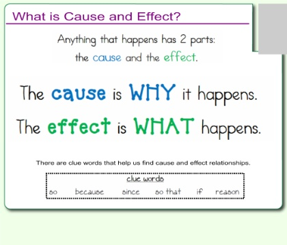 cause and effect english paper