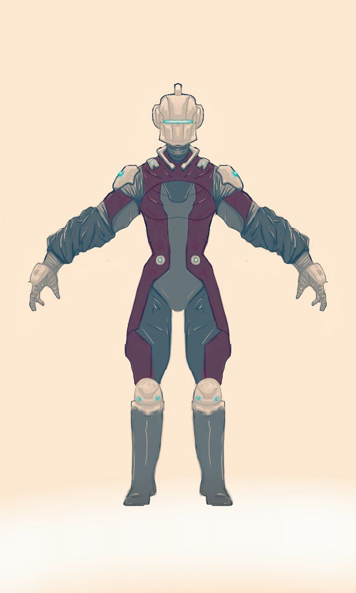 Female design based on the concept art for Derf Anyo.