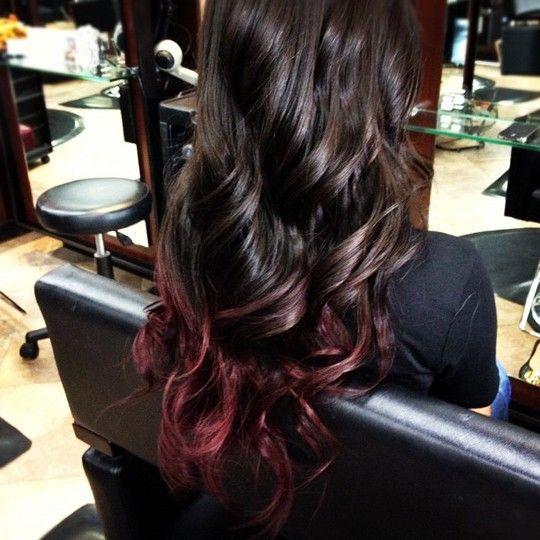 Hair color trends 2013 subtle ombre burgundy hair advice on ombre burgundy hair possible - Ombre hair marron ...